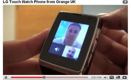 LG GD910: watch phone con videochiamata 3G HSDPA in Video