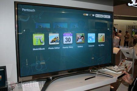 IFA 2011: LG Pentouch TV, il televisore al plasma con schermo touch e pennino