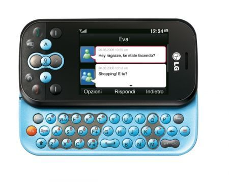 LG Tribe Chat Mobile da Tim un cellulare touchscreen per Windows Live Messenger mobile