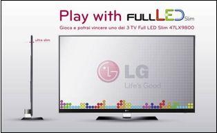LG regala un televisore 3D con il concorso Play with Full LED Slim fino a giugno 2010