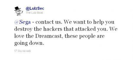 Anche Sega sotto attacco Hacker: LuzSec offre il proprio aiuto