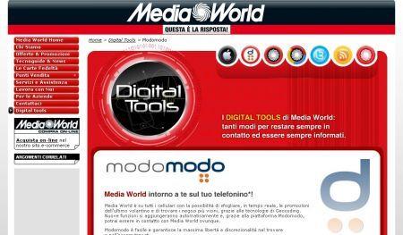 Modomodo.com e Media World: il volantino dei prodotti sul cellulare