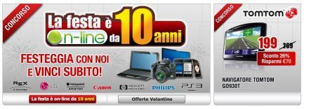 Media World Compra On Line festeggia i 10 anni e regala prodotti