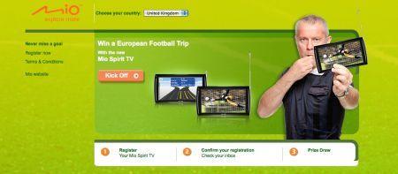 Mio regala il calcio Europeo con i navigatori Mio Spirit Tv fino al 30 luglio 2010