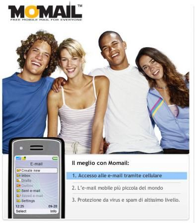 Momail: le email sempre in tasca