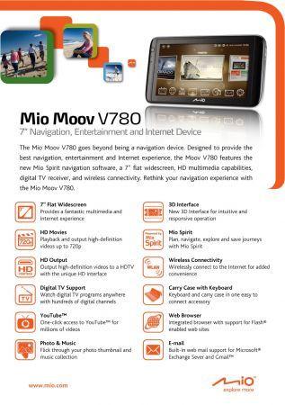 Mio Moov V780: nuovo gps presentato al Cebit 2010