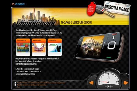N-Gage Need For Speed: undercover regala 3 giochi Nokia