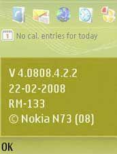 Nokia N73 ME Firmware V4.0808.4.2.2