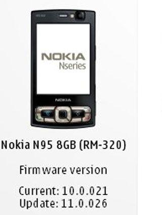 Nokia N95 8GB Aggiornamento Firmware