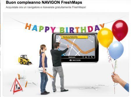 Navigon Freshmaps compie due anni e regala le mappe