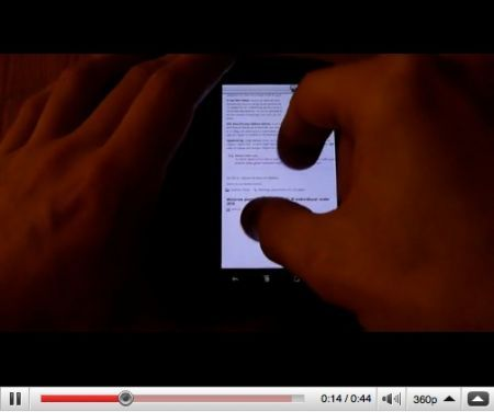 Google Nexus One: multitouch il browser web interno con una patch