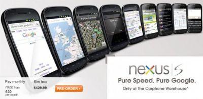 Google Nexus S: prezzo già scontato in UK