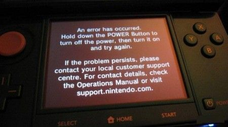 Nintendo 3DS: confermato il Black Screen of Death
