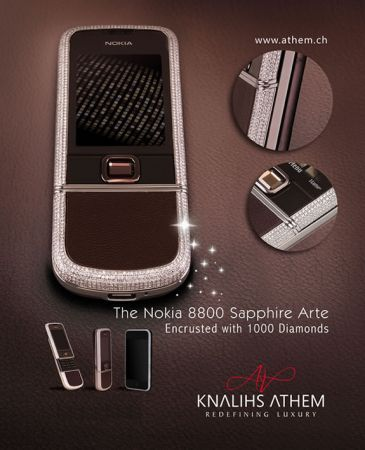 Nokia 8800 Sapphire Arte: 1000 brillanti da sogno