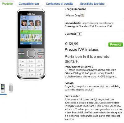Nokia C5: prenotabile sul Nokia Online Shop