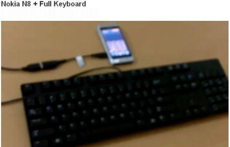 nokia n8 con tastiera usb