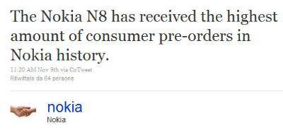 Nokia N8: lo smartphone Nokia più prenotato di sempre
