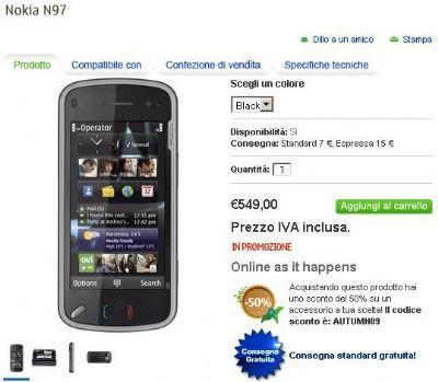 Il Nokia N97 scende di prezzo