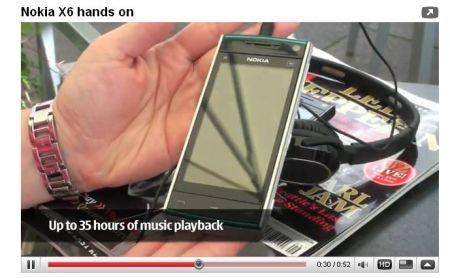 Nokia X6 in video