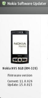 Aggiornamento firmware per Nokia N95 8GB.