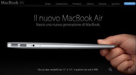 Nuovo MacBook Air 2010 da Apple, rinnovato ma non troppo