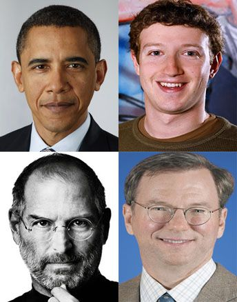 Steve Jobs a cena con Obama e Mark Zuckerberg