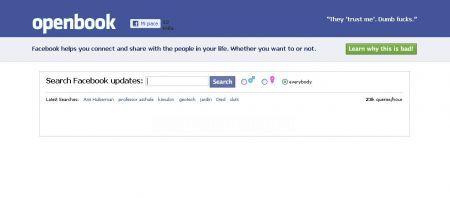 Facebook svelato da openbook in chiaro tutti i nostri for Segreti facebook