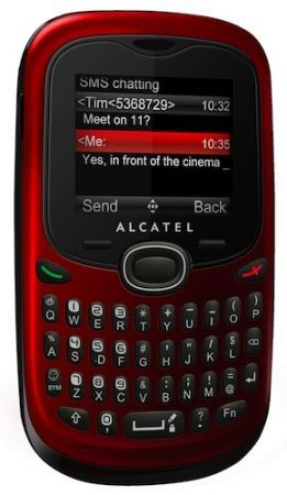 Alcatel OT 255: cellulare economico con tastiera QWERTY come idea regalo