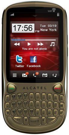 Alcatel OT 806: cellulare elegante con tastiera QWERTY come idea regalo per lui