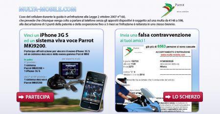 Concorso Parrot: invia una finta multa agli amici e vinci un iPhone!
