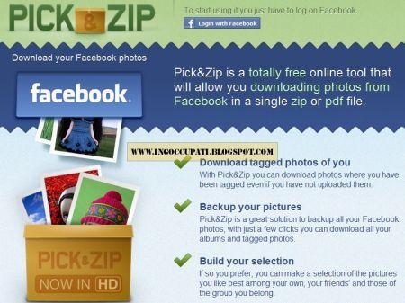 Pick&Zip: scaricare tutte le foto di Facebook in un colpo solo