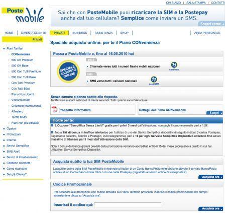 PosteMobile: ritorna il Piano CONvenienza per chi chiede la portabilità del numero
