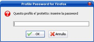 ProfilePassword: proteggere il proprio profilo di firefox con una password