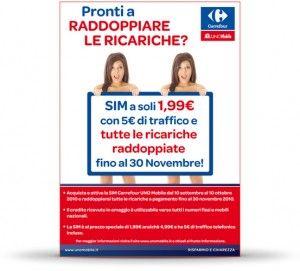 Carrefour UNO Mobile: Sim Card a metà prezzo fino al 10 ottobre 2010