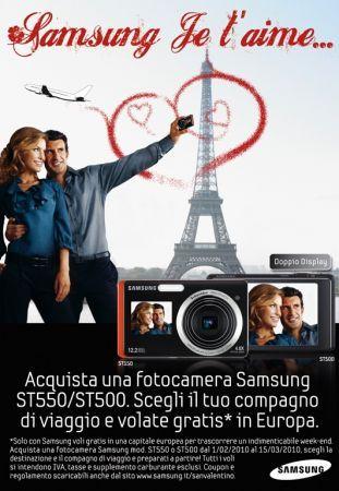 Samsung Je T'Aime: acquisti una fotocamera per San Valentino e parti in due!