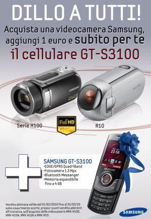 Samsung Dillo a Tutti: acquista una videocamera e ricevi un cellulare gratis