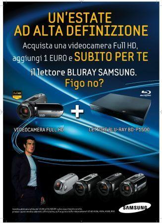 Samsung: Lettore blu-ray gratis se acquisti una videocamera