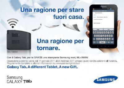 Samsung Galaxy Tab: acquisti un tablet e ricevi una stampante gratis