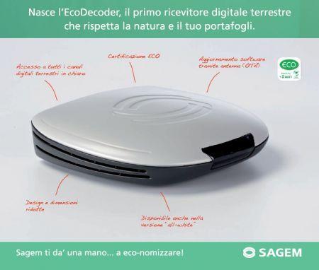 """Sagem lancia sul mercato il primo """"Eco-decoder"""" per il digitale terrestre"""