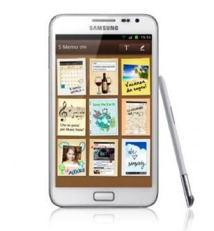 Samsung Galaxy Note bianco, in uscita in Italia da fine febbraio