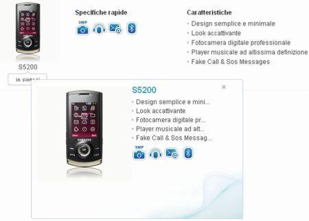 Samsung GT-S5200: smartphone di fascia media con  fotocamera flash led a 3.2 megapixel