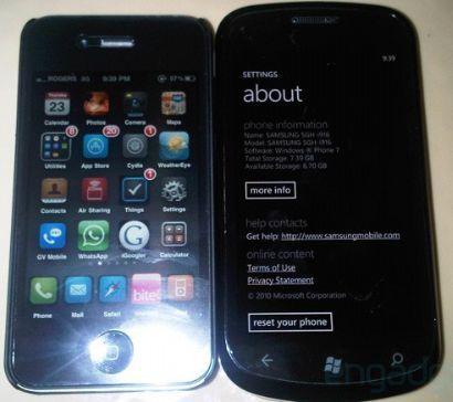 Samsung i916 Cetus nuovo Windows Phone 7