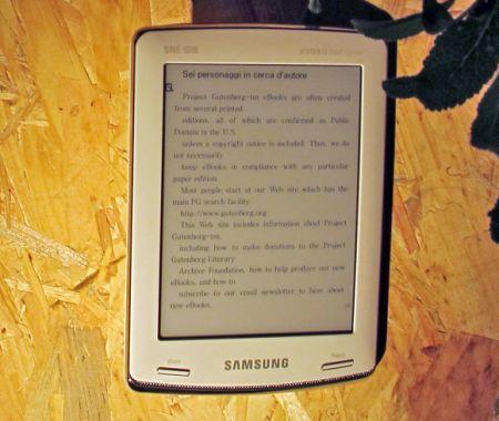 Arriva in Italia il primo e-book reader di Samsung