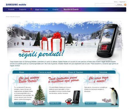 Natale 2008: con Samsung vinci un cellulare al giorno e un viaggio a Dubai