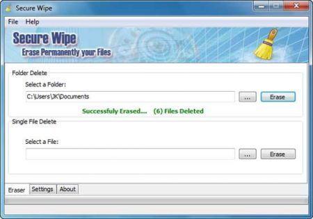 Secure Wipe: cancellare definitivamente file e cartelle