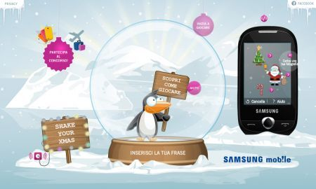 Samsung Shake your Xmas: gioca e vinci un Samsung Corby S3650