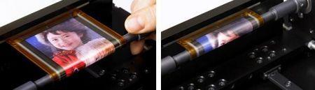 Sony ed il display OLED arrotolabile in video