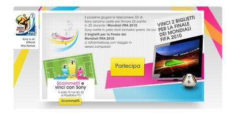 Sony Entra in Campo il 3D: gioca e vinci i Mondiali di Calcio 2010
