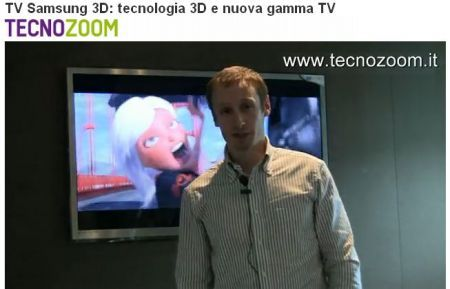 Samsung TV: tecnologia 3D LCD, LED e Plasma in video intervista