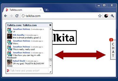 Talkita: parlare con gli altri visitatori dello stesso sito